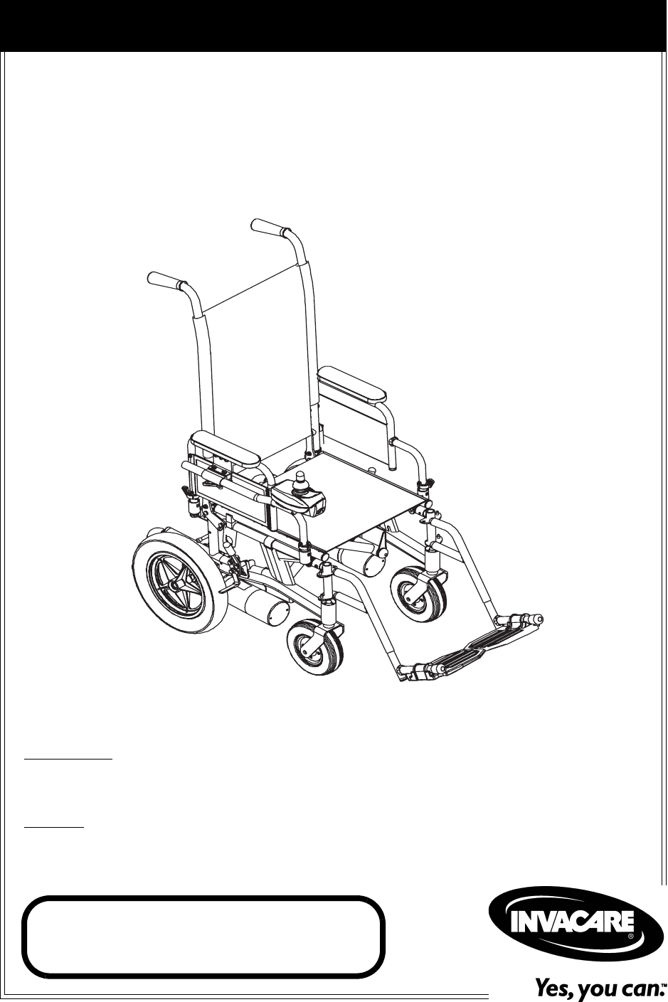 Invacare Mobility Aid Nutron Series User Guide