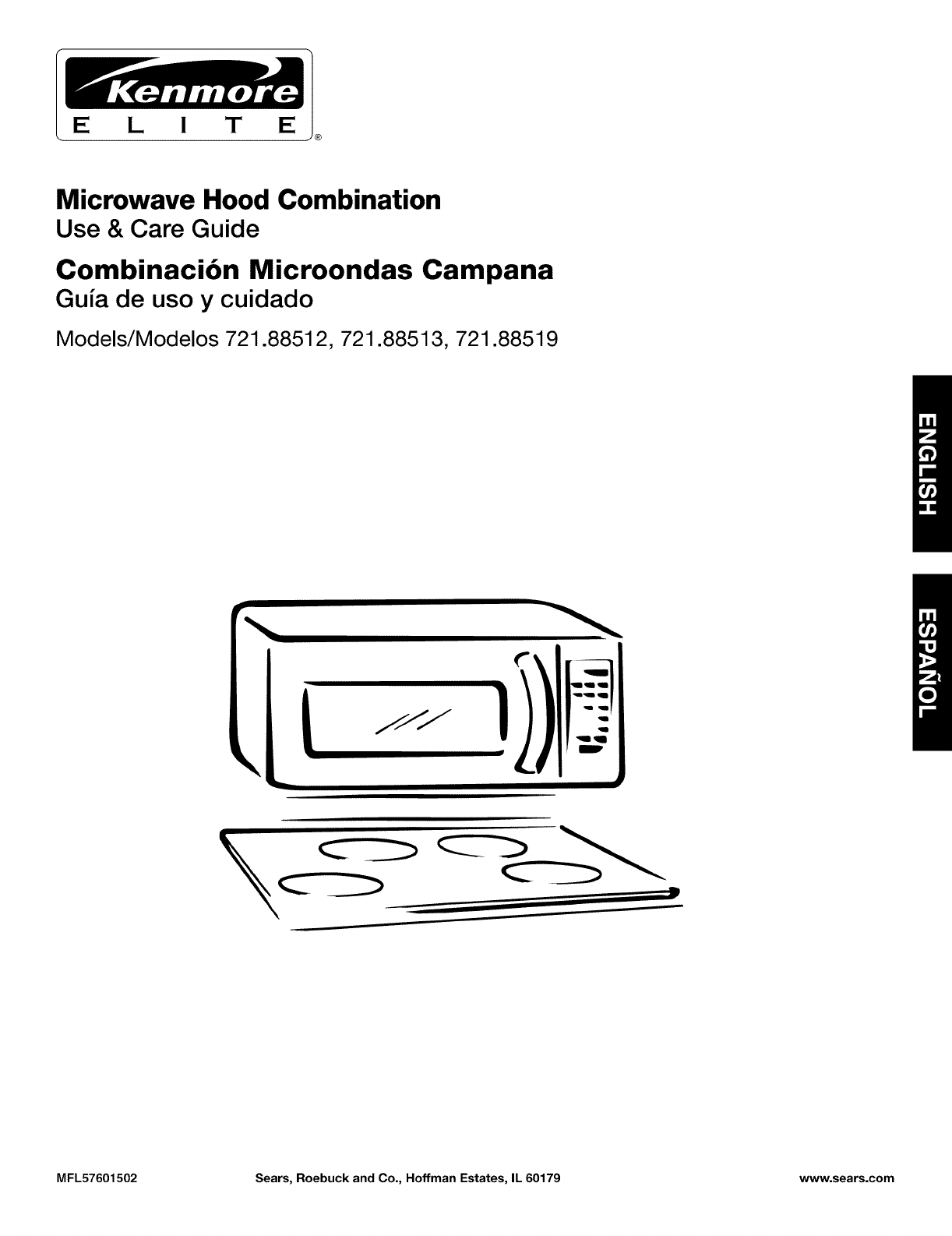 Kenmore Microwave Oven 721.88512 User Guide