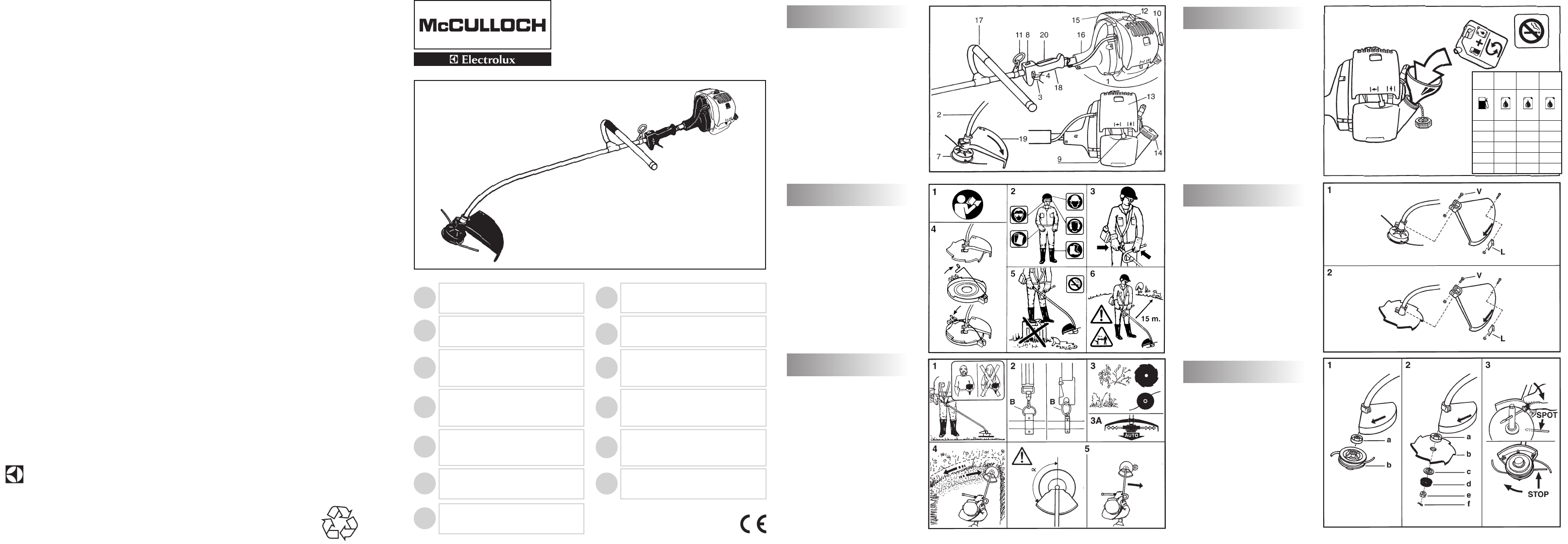 McCulloch Brush Cutter 246/25 cc User Guide