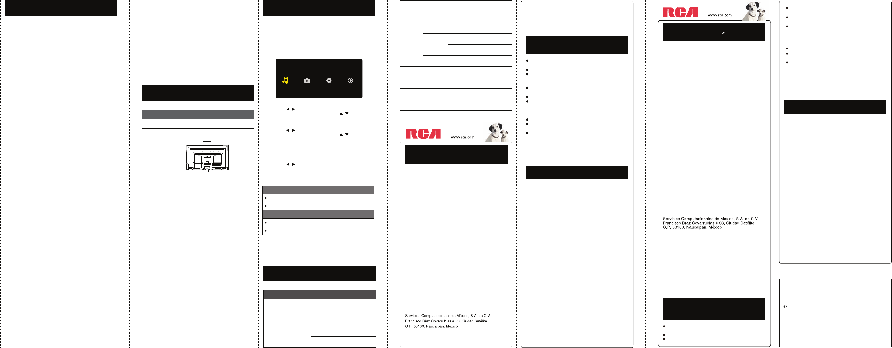 Page 4 of RCA Flat Panel Television LED46C45RQ User Guide