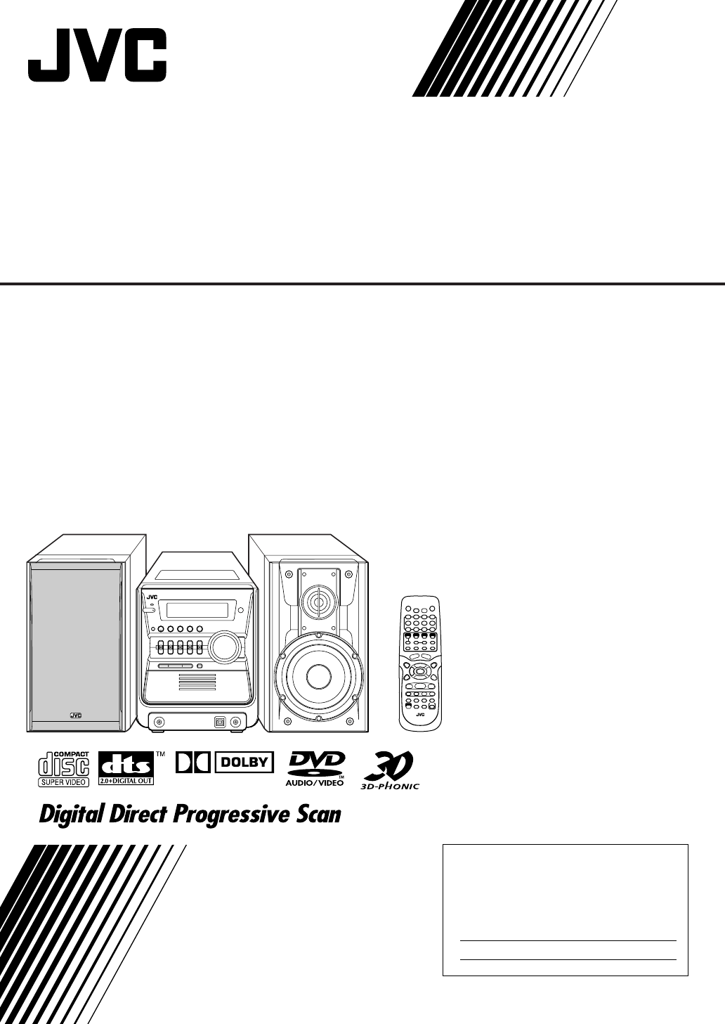 Jvc Stereo System Fs Gd7 User Guide