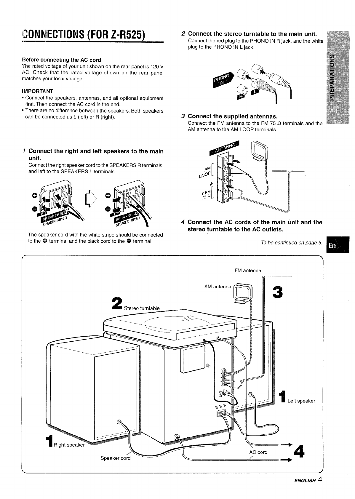 Page 5 of Sony Stereo System CX-ZR525 User Guide