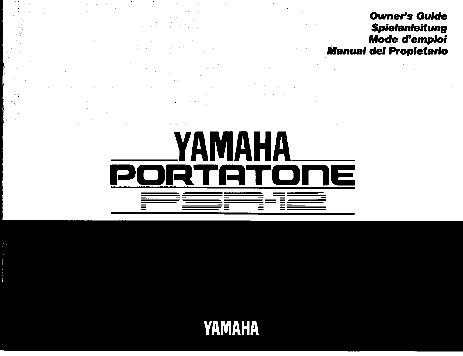 Yamaha Electronic Keyboard PSR-12 User Guide
