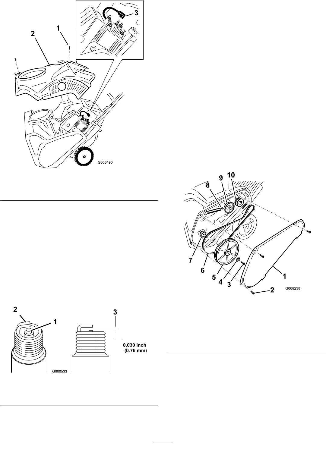 Page 14 of Toro Snow Blower 38583 User Guide