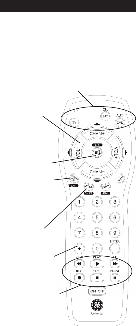 Page 4 of GE Universal Remote 24991 User Guide