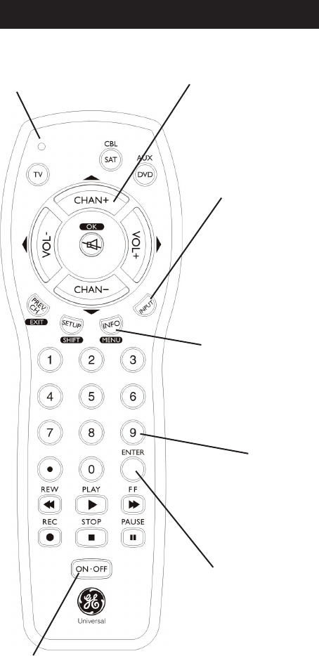 Page 5 of GE Universal Remote 24991 User Guide