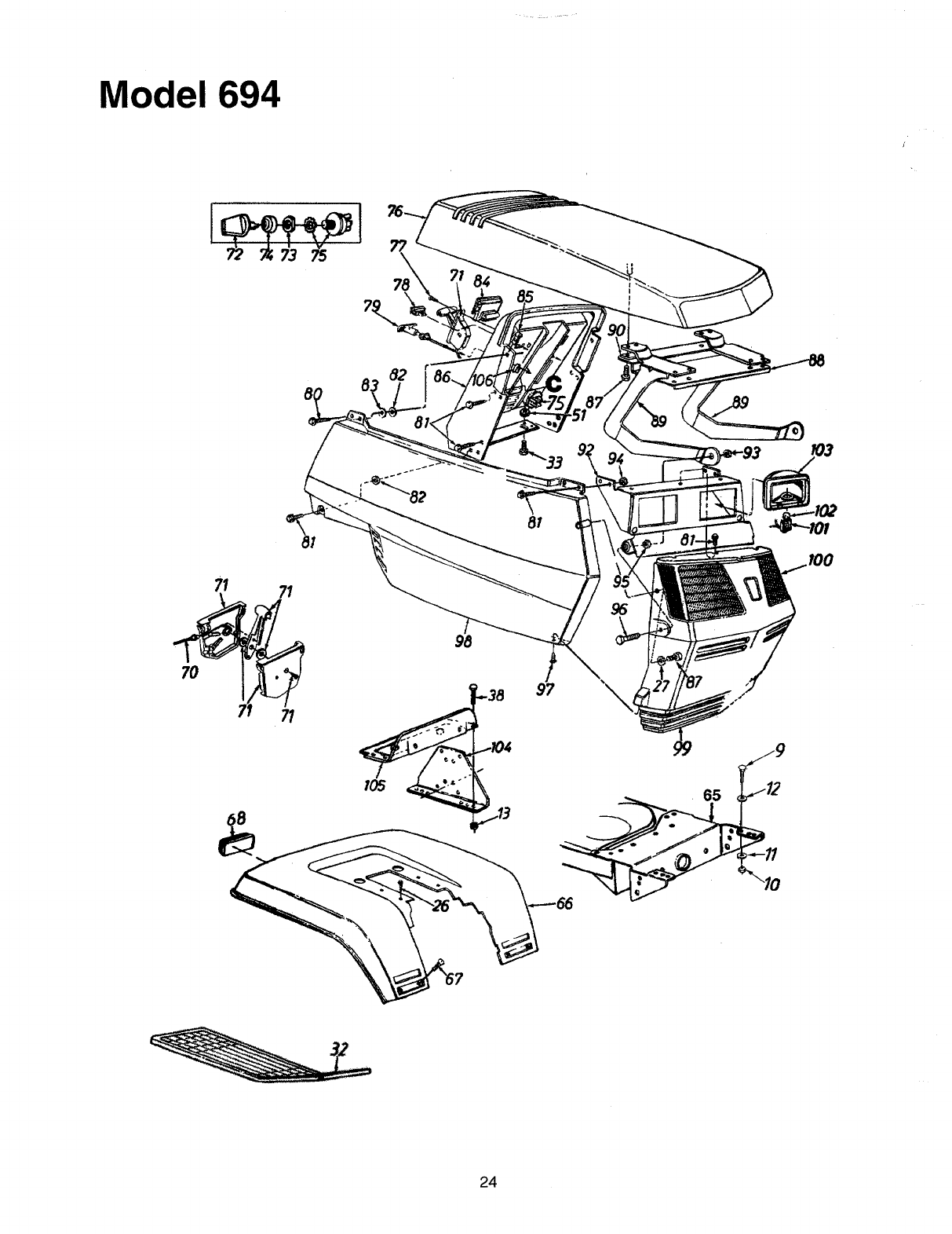 Page 24 of Yard-Man Lawn Mower 694 User Guide