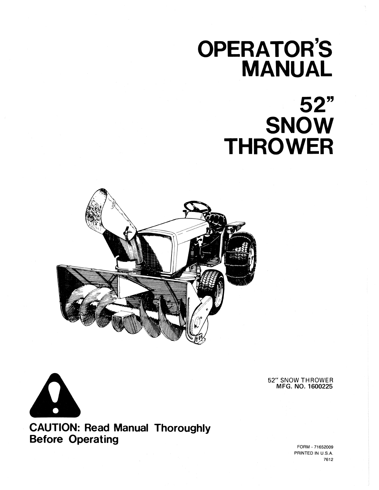 Snapper Snow Blower Tp 100 User Guide