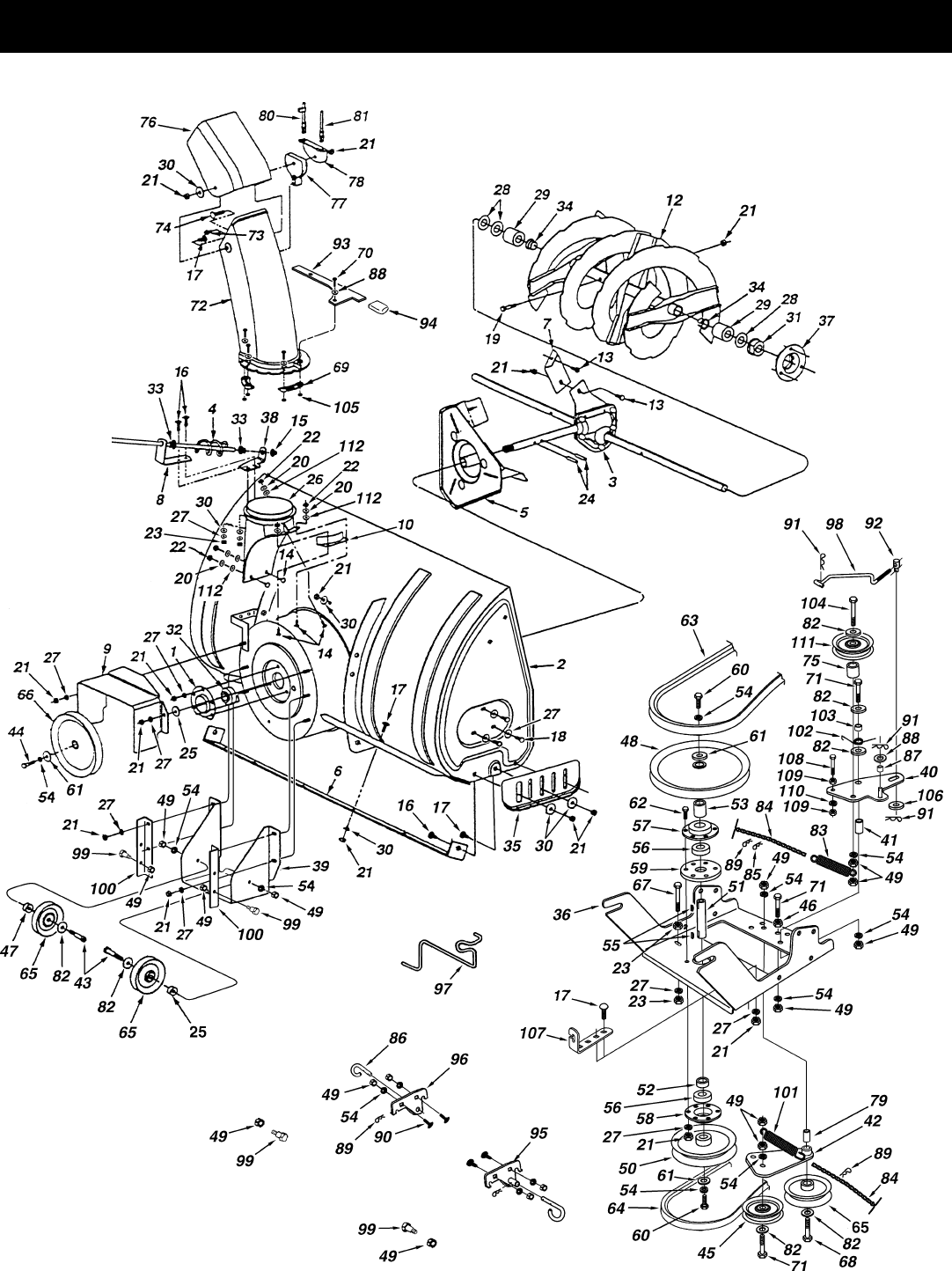 Page 22 of Sears Snow Blower 486.248392 User Guide