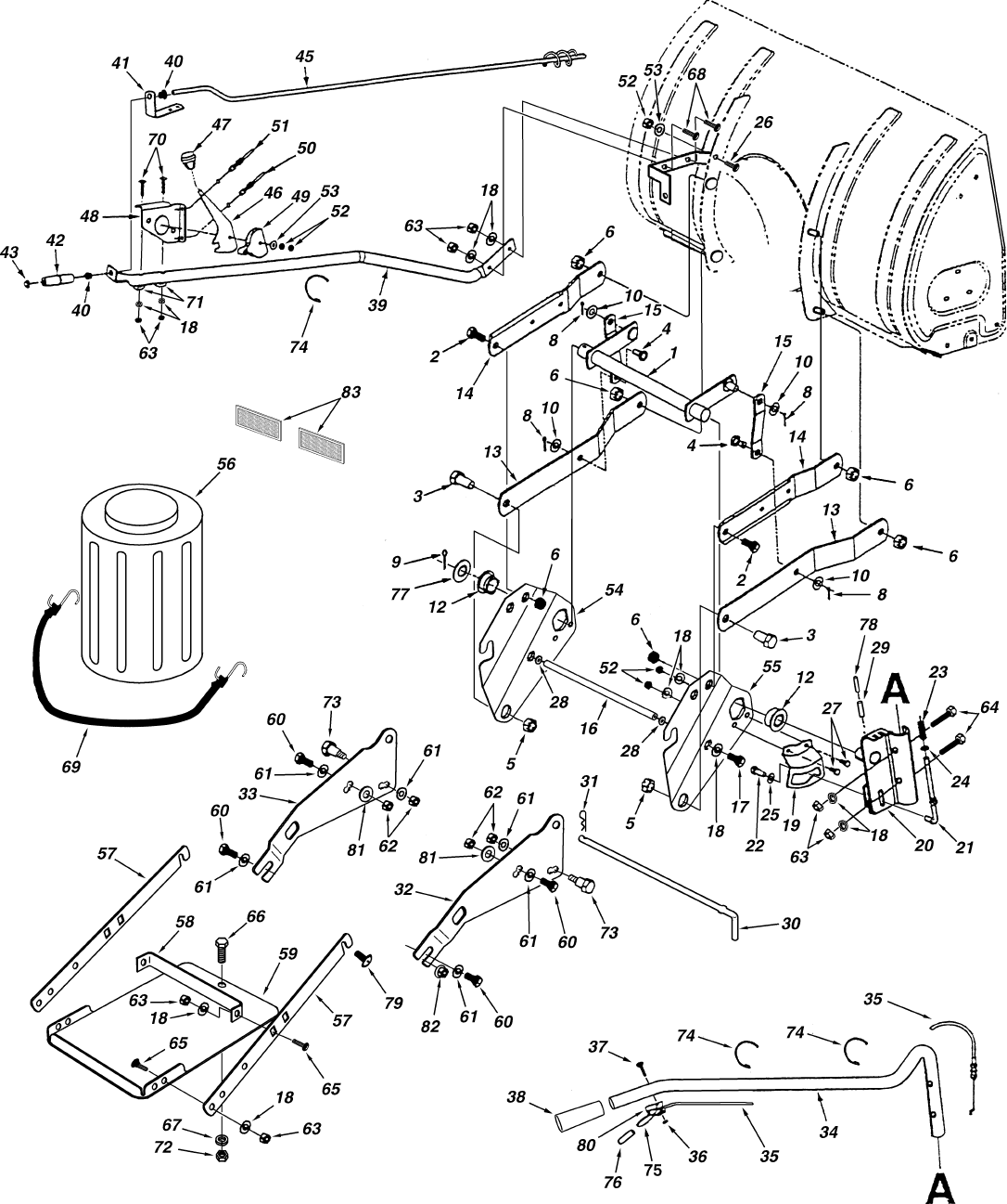 Page 24 of Sears Snow Blower 486.248392 User Guide