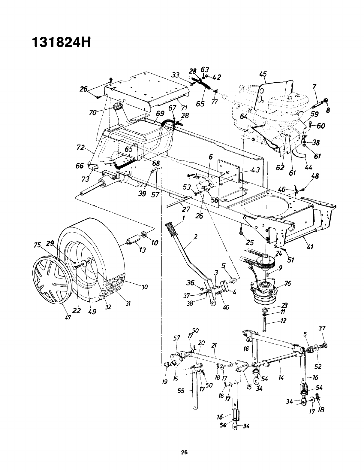 Page 26 of Yard-Man Lawn Mower 131824H User Guide