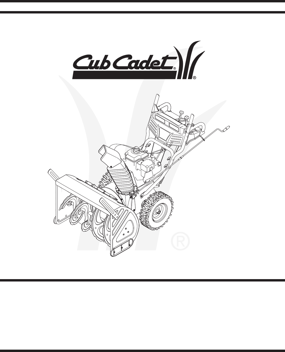 Cub Cadet Snow Blower OEM-390-679 User Guide