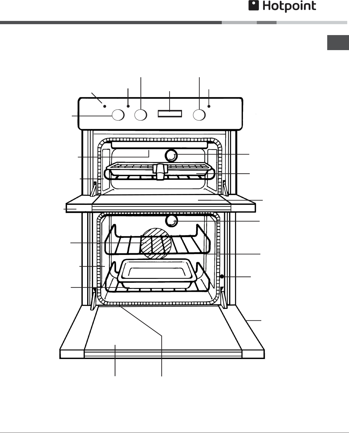 Page 5 of Hotpoint Double Oven AHP37X User Guide