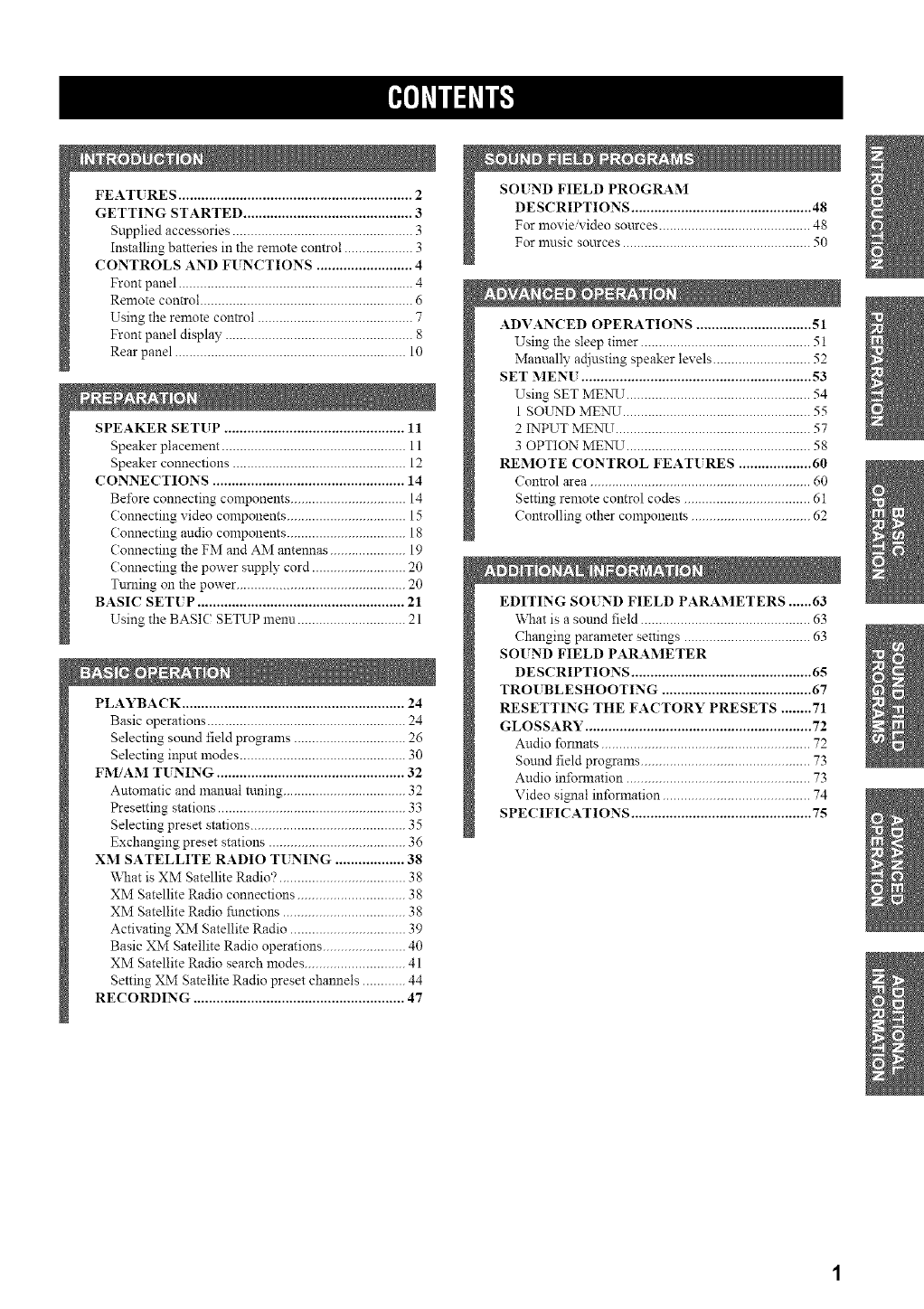 Page 5 of Yamaha Stereo Receiver HTR-5835 User Guide