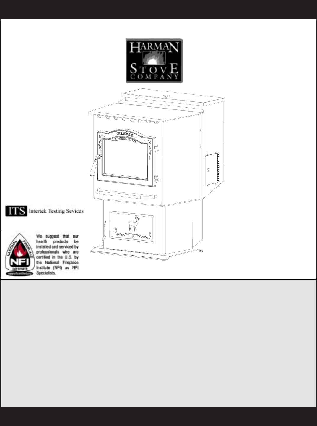 Harman Stove Company Stove P61A-2 User Guide