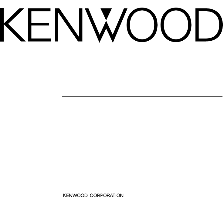 Kenwood Car Stereo System DDX7015 User Guide