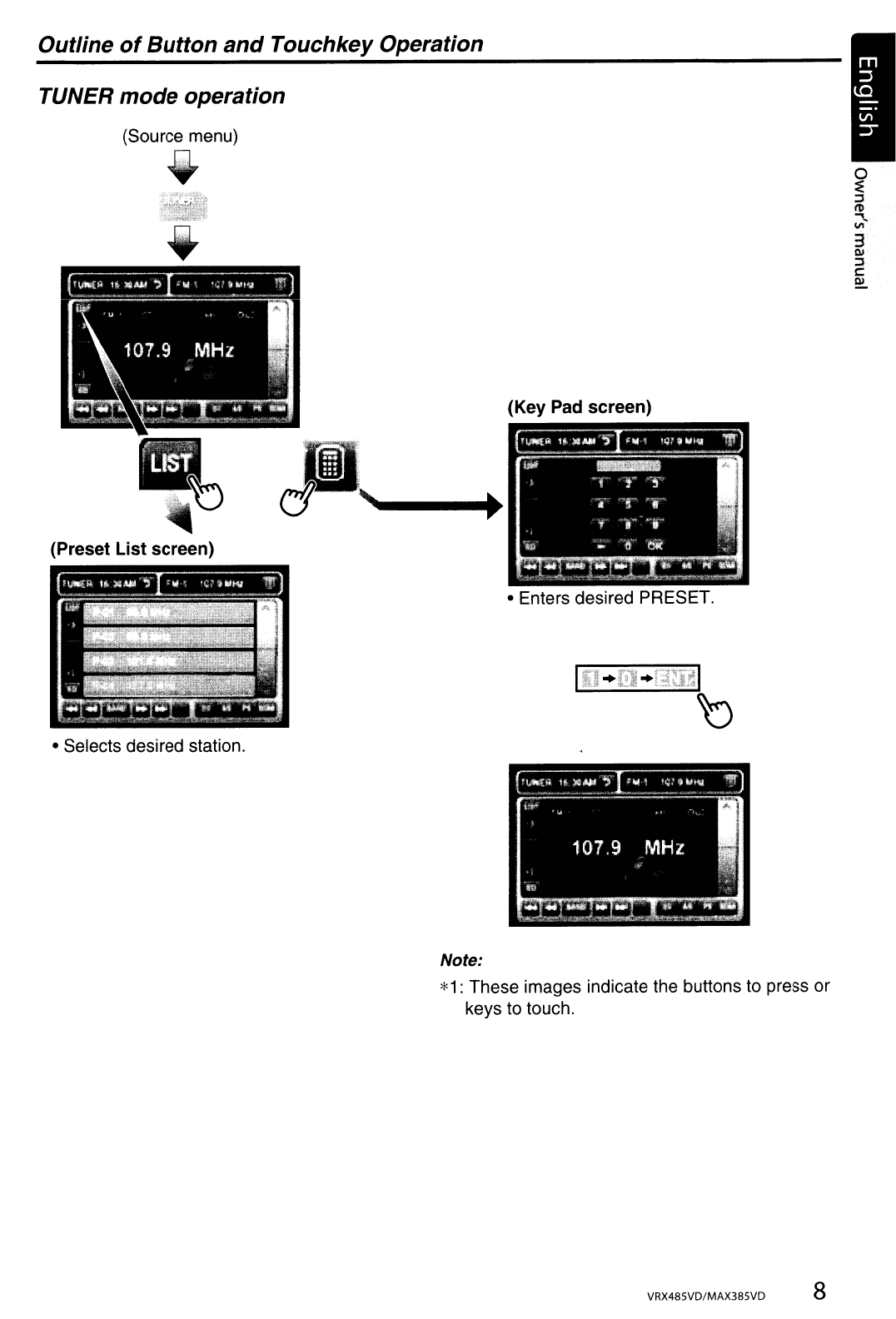 Page 8 of Clarion Car Stereo System MAX385VD User Guide