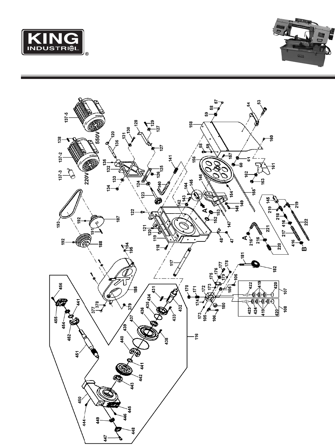 Page 2 of King Canada Saw KC-226 User Guide