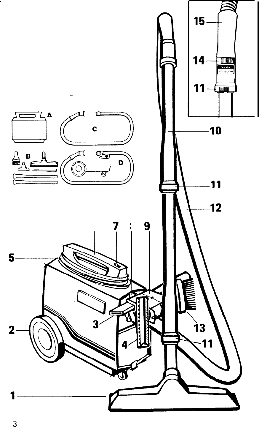 Page 4 of Hoover Vacuum Cleaner S1049 User Guide
