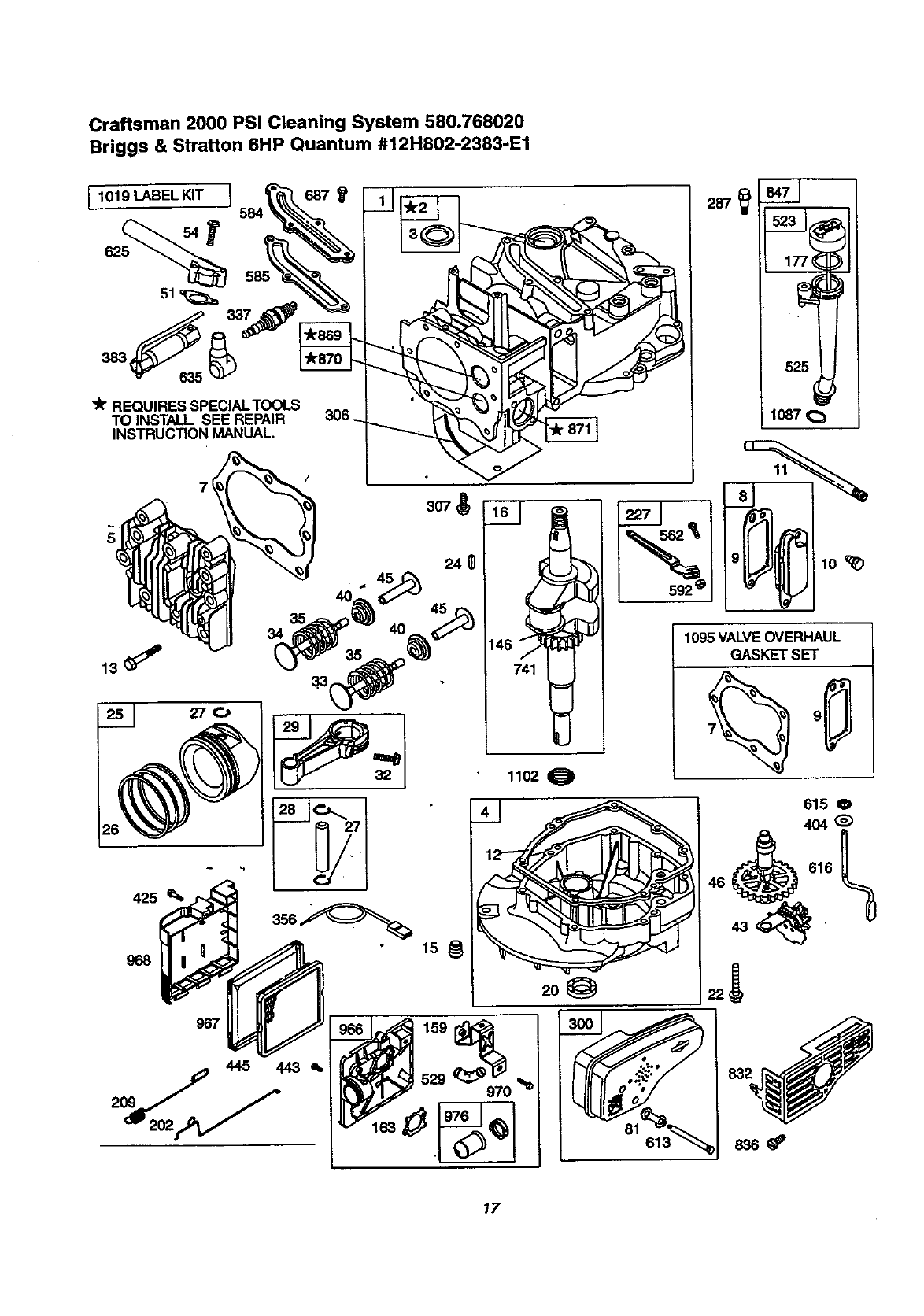 Page 17 of Craftsman Pressure Washer 580.768020 User Guide
