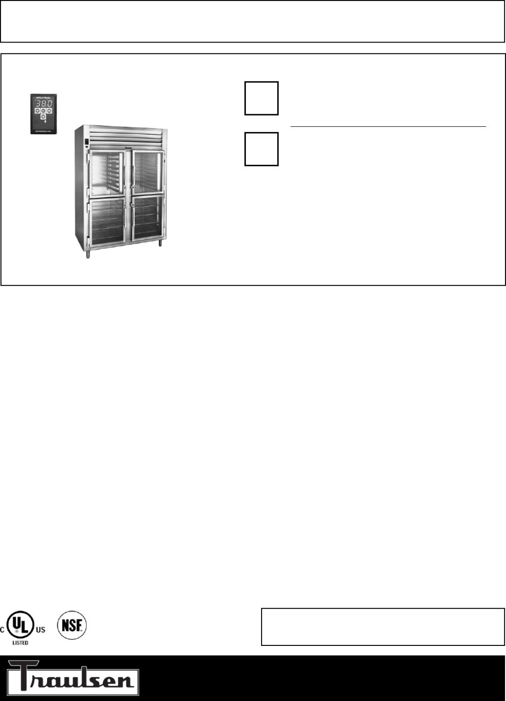 medium resolution of traulsen rht232nut hhg refrigerator user manual