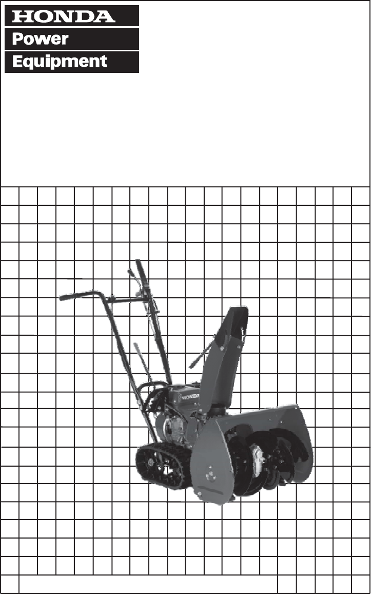 Honda snowblower hs622 repair manual
