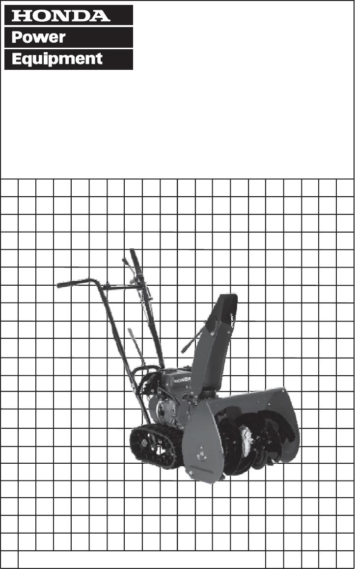 Honda snowblower hs622 repair manual