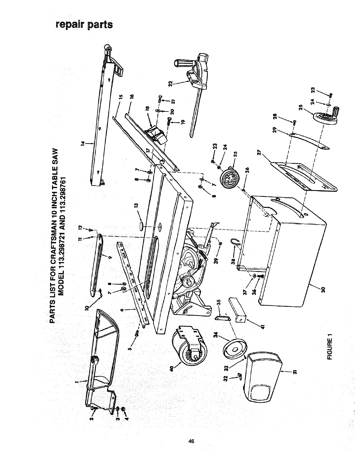 Page 46 of Craftsman Saw 113.298721, 113.298761 User Guide