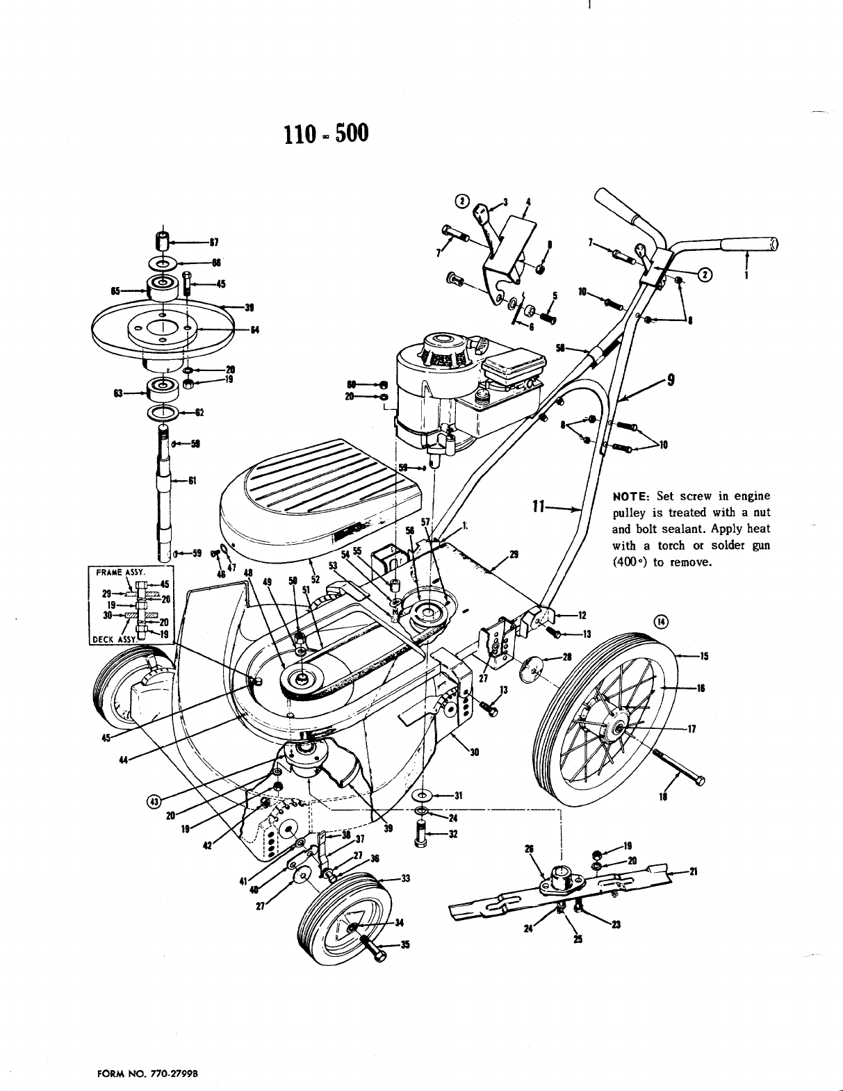 Page 2 of MTD Lawn Mower 110-500 User Guide