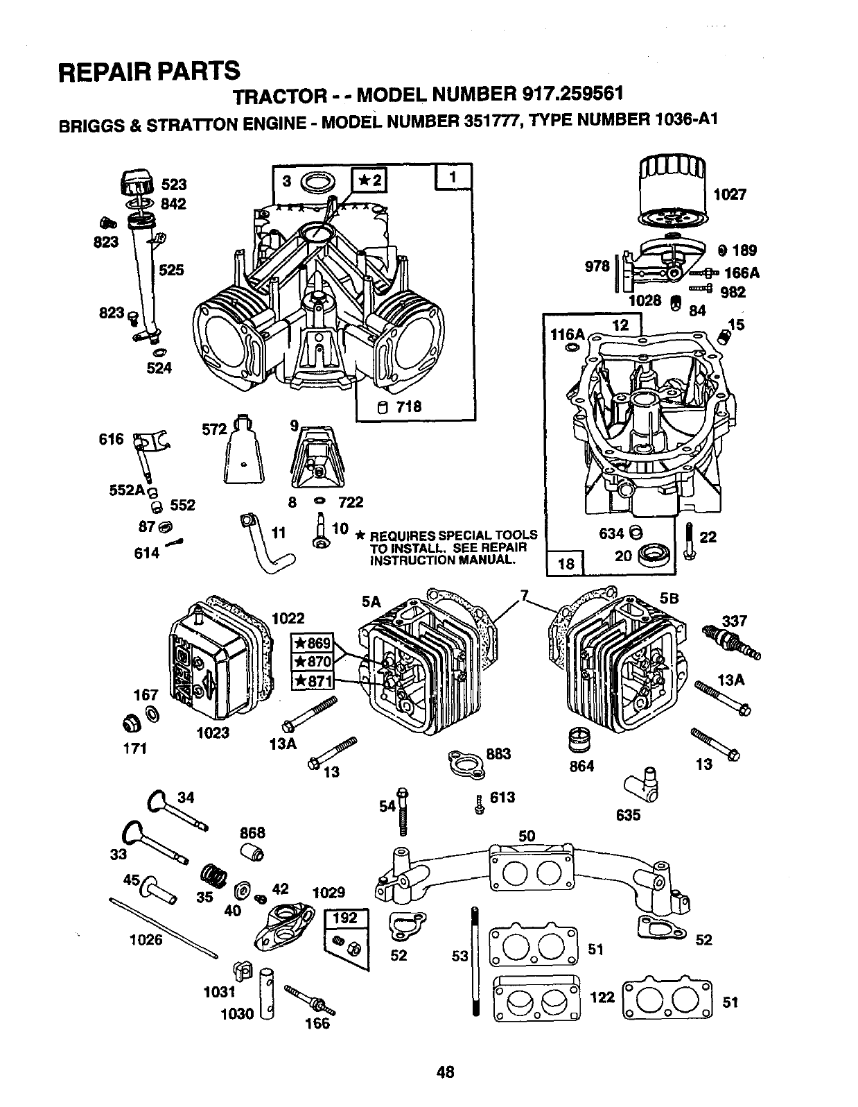 Page 48 of Craftsman Lawn Mower 917.259561 User Guide