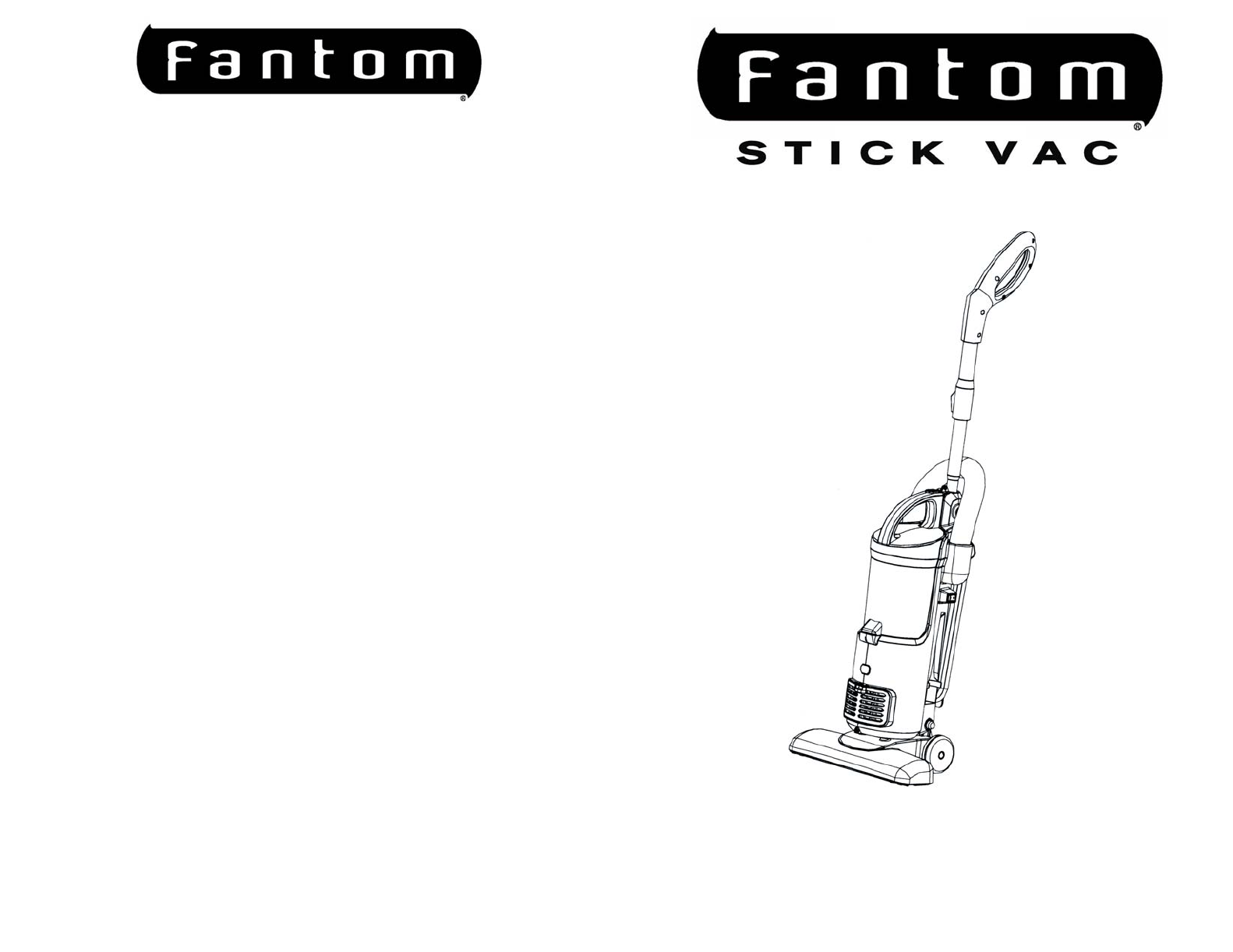 Fantom Vacuum Vacuum Cleaner FS801 User Guide