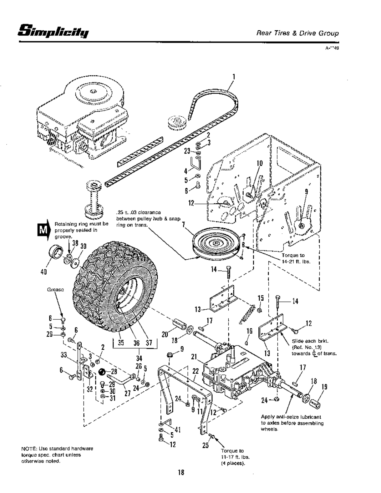 Page 20 of Snapper Lawn Mower 4212G User Guide