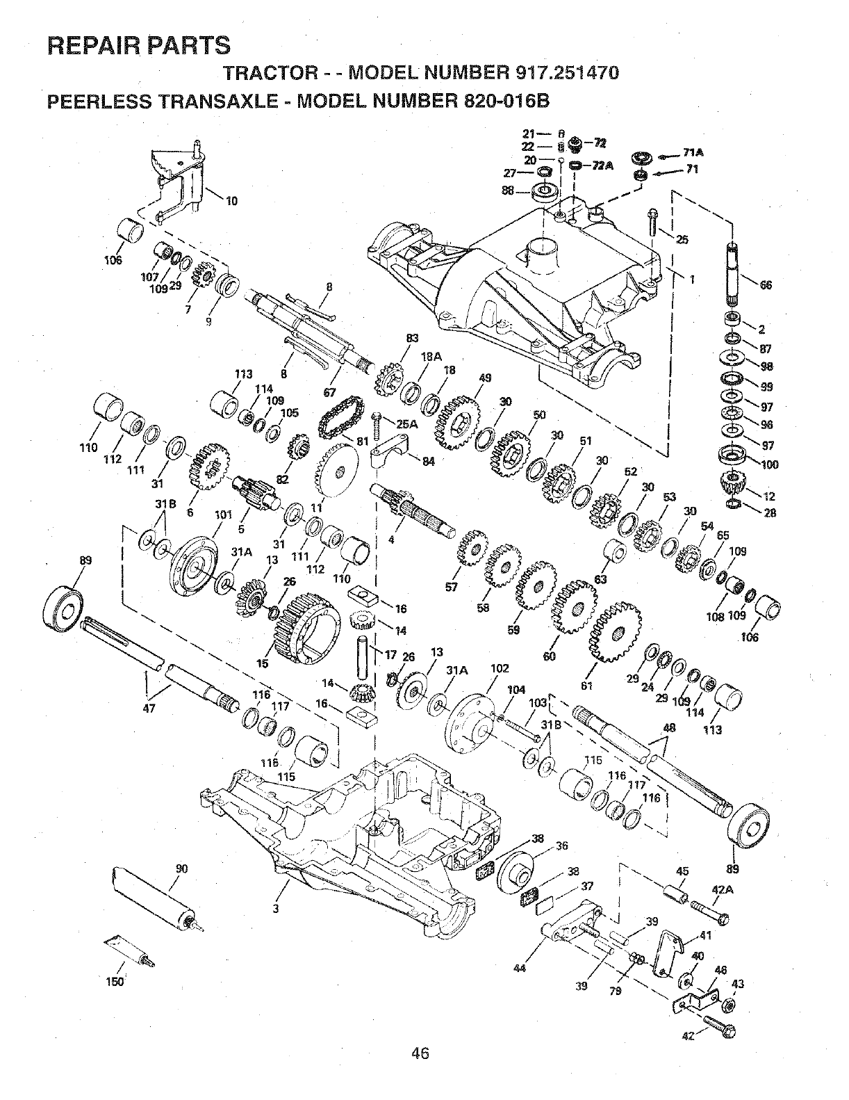 Page 46 of Sears Lawn Mower 917.25147 User Guide