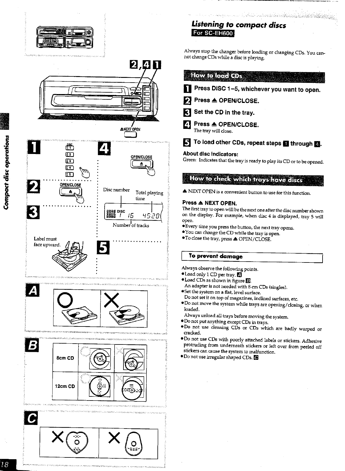 Page 18 of Technics Stereo System SC-EH600 User Guide