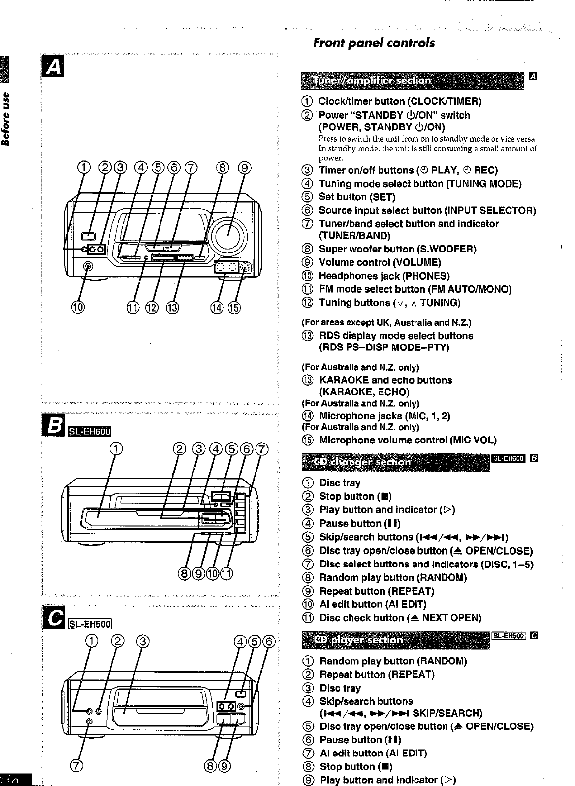 Page 10 of Technics Stereo System SC-EH600 User Guide