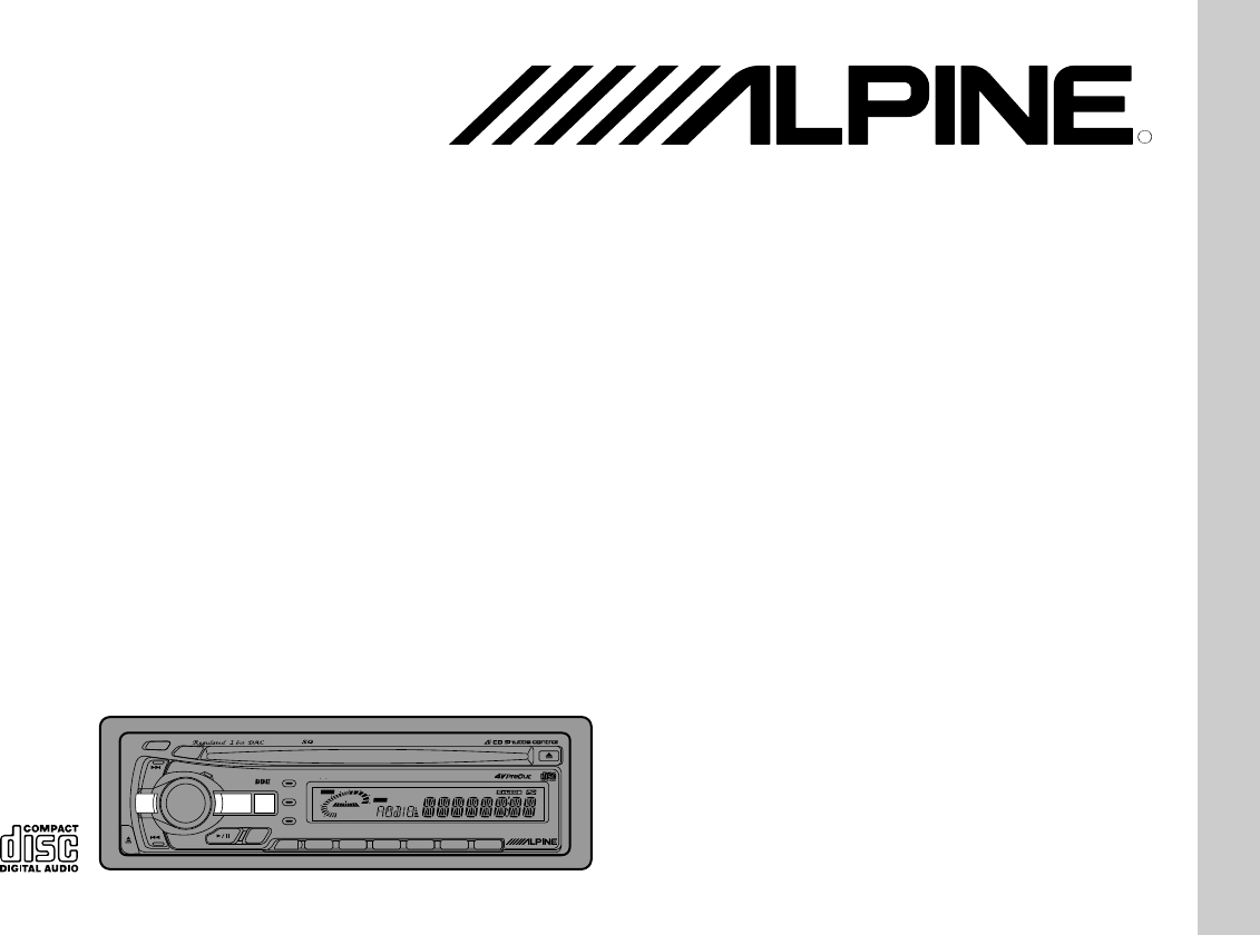 Alpine Car Stereo System CDA-7844 User Guide