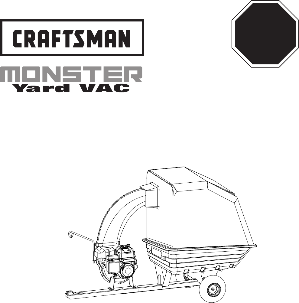 Craftsman Yard Vacuum 486.245071 User Guide