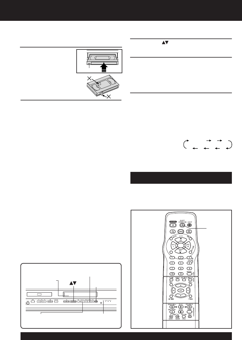 Page 18 of Panasonic DVD VCR Combo PV DF2003 User Guide