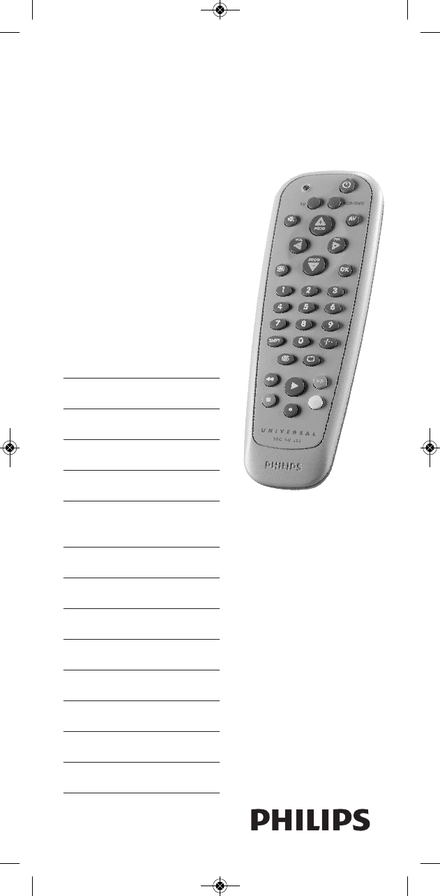 Philips Universal Remote 252/0OH User Guide