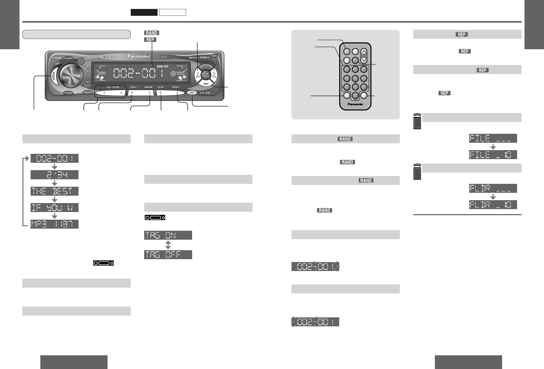 Page 9 of Panasonic Car Stereo System C3100U User Guide