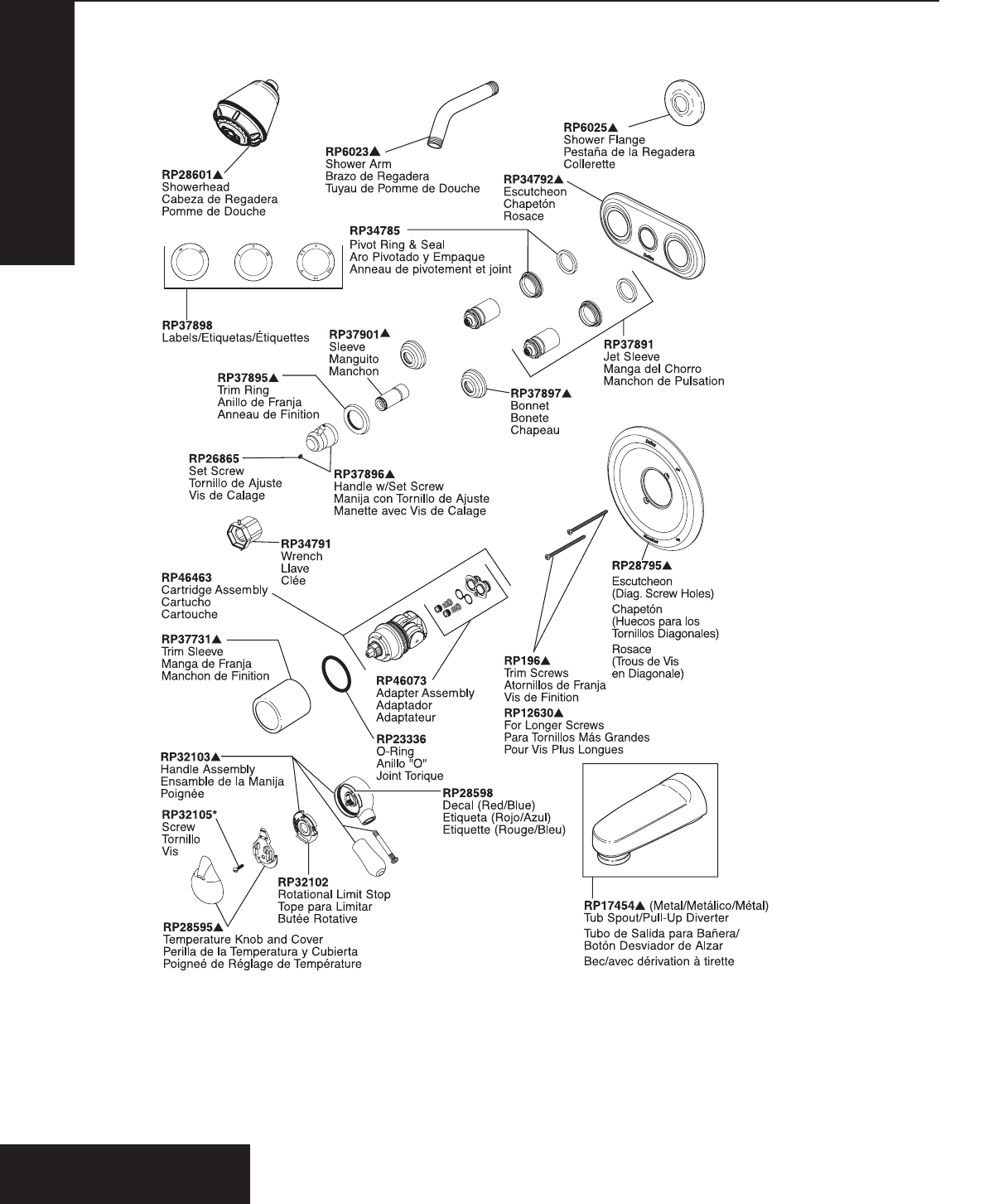 Delta Plumbing Product T18430 Series User Guide