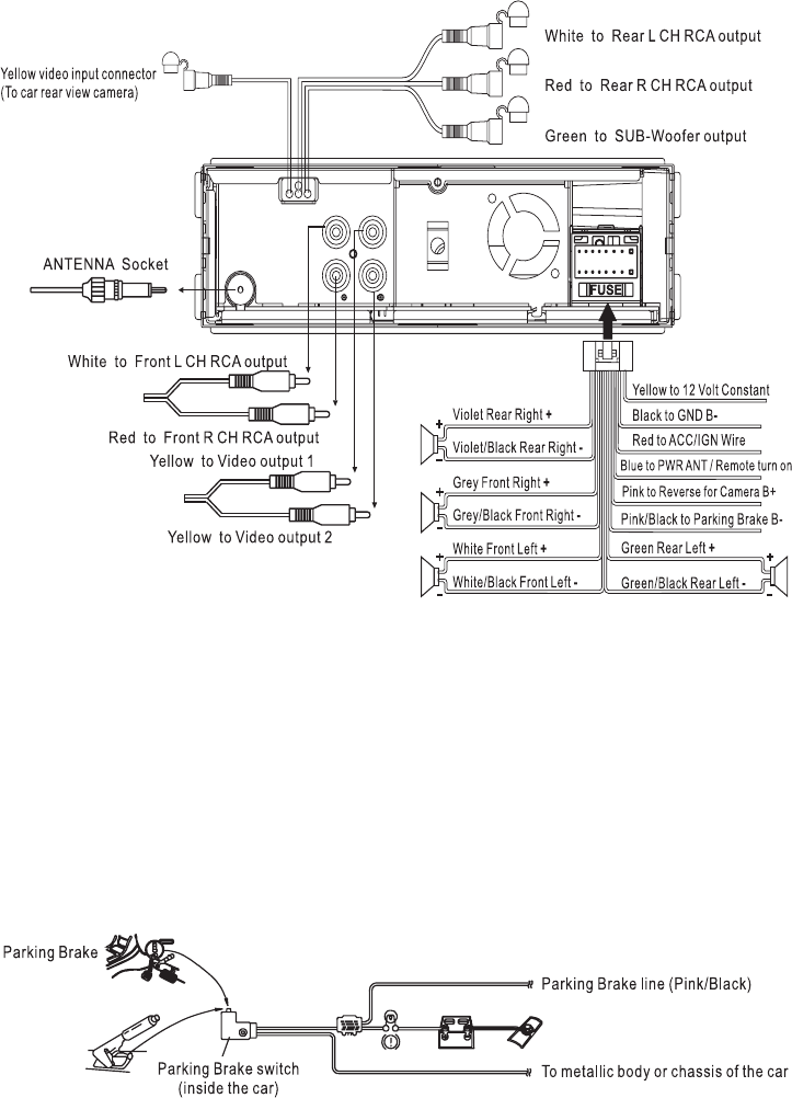 For Laptop Monitor Wiring Diagram Page 7 Of Boss Audio Systems Car Video System Bv7300 User