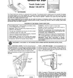 sear garage door opener wiring diagram [ 1244 x 1584 Pixel ]
