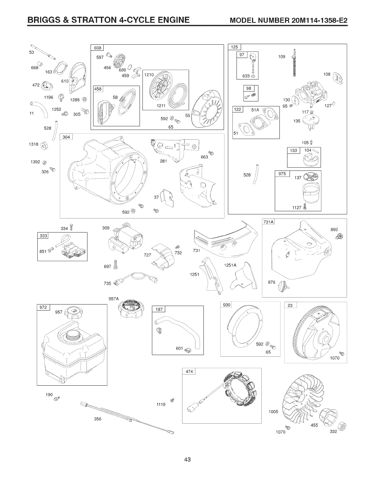 Page 43 of Craftsman Snow Blower 944.528398 User Guide