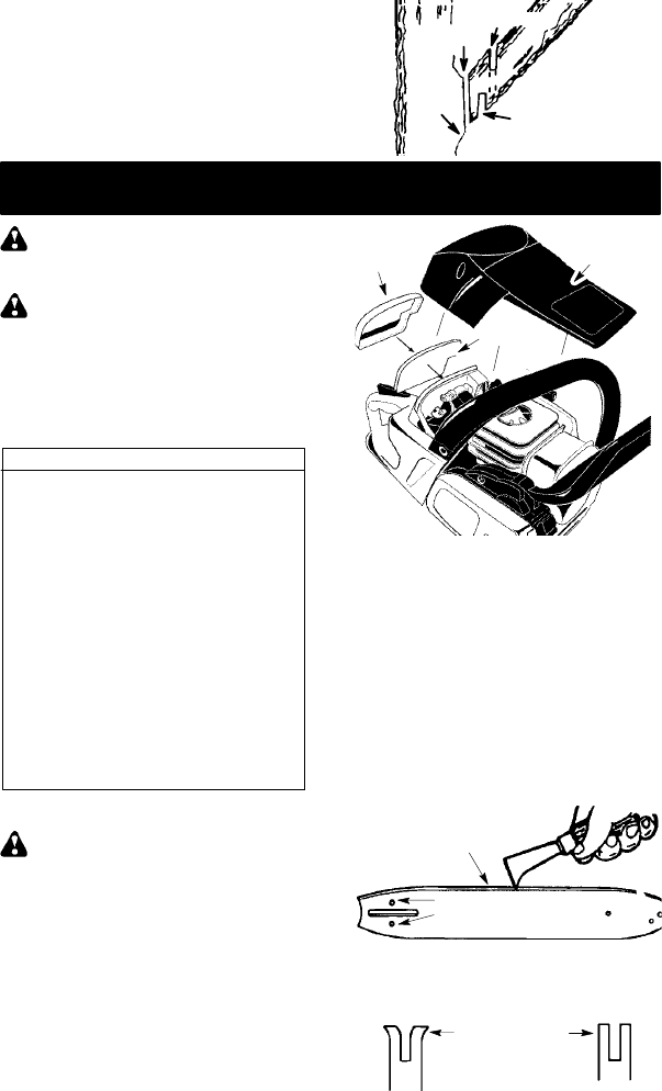 Page 13 of McCulloch Chainsaw MAC 742 User Guide