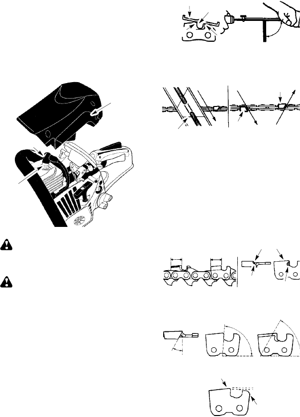 Page 14 of McCulloch Chainsaw MAC 742 User Guide