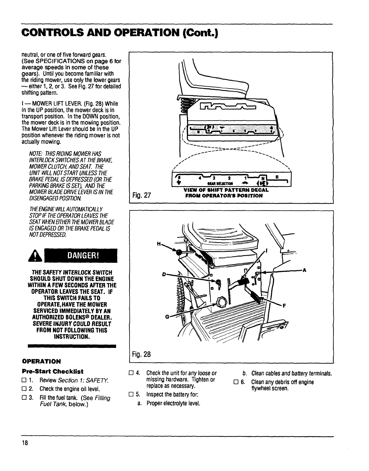 Page 18 of Bolens Lawn Mower 13003 User Guide