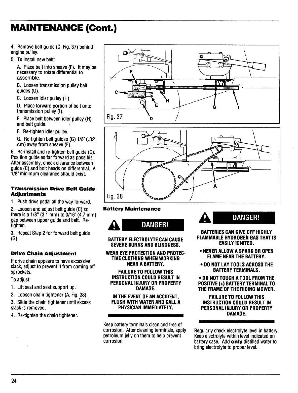 Page 24 of Bolens Lawn Mower 13003 User Guide