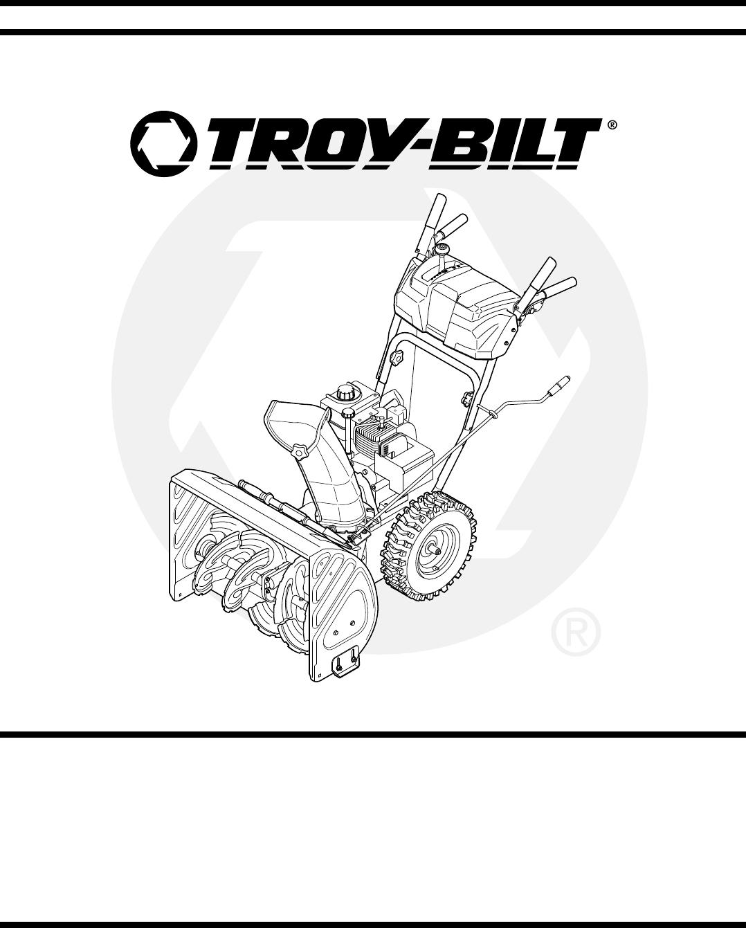 Troy-Bilt Snow Blower STORM Series User Guide