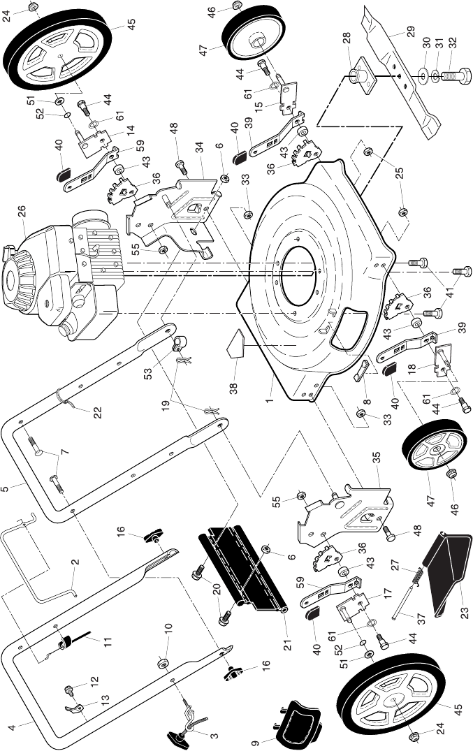 Page 2 of Huskee Lawn Mower HU500N22SH User Guide